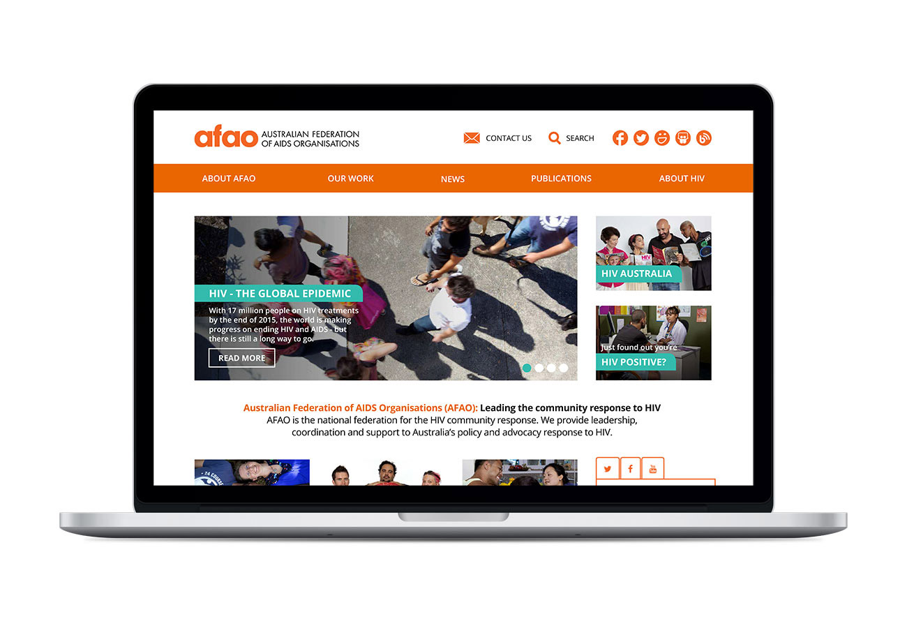 AFAO Visual Identity and Web Design
