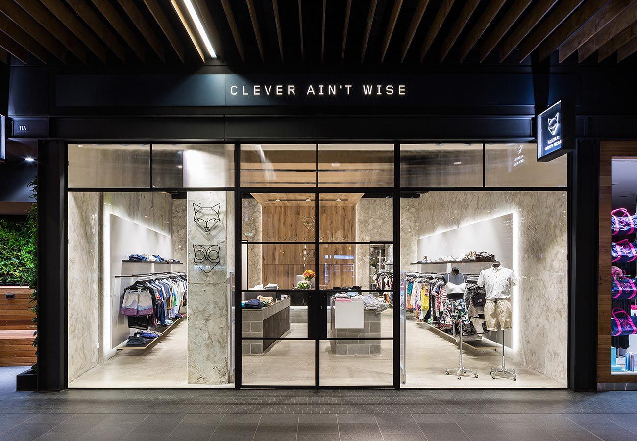 Clever ain't Wise Visual Identity Retail