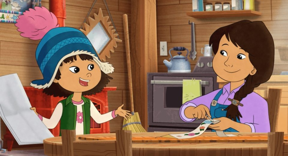 In the PBS program Molly of Denali, Alaska Native Molly Mabray helps her mom run a trading post in an Alaskan village. Courtesy WGBH Educational Foundation