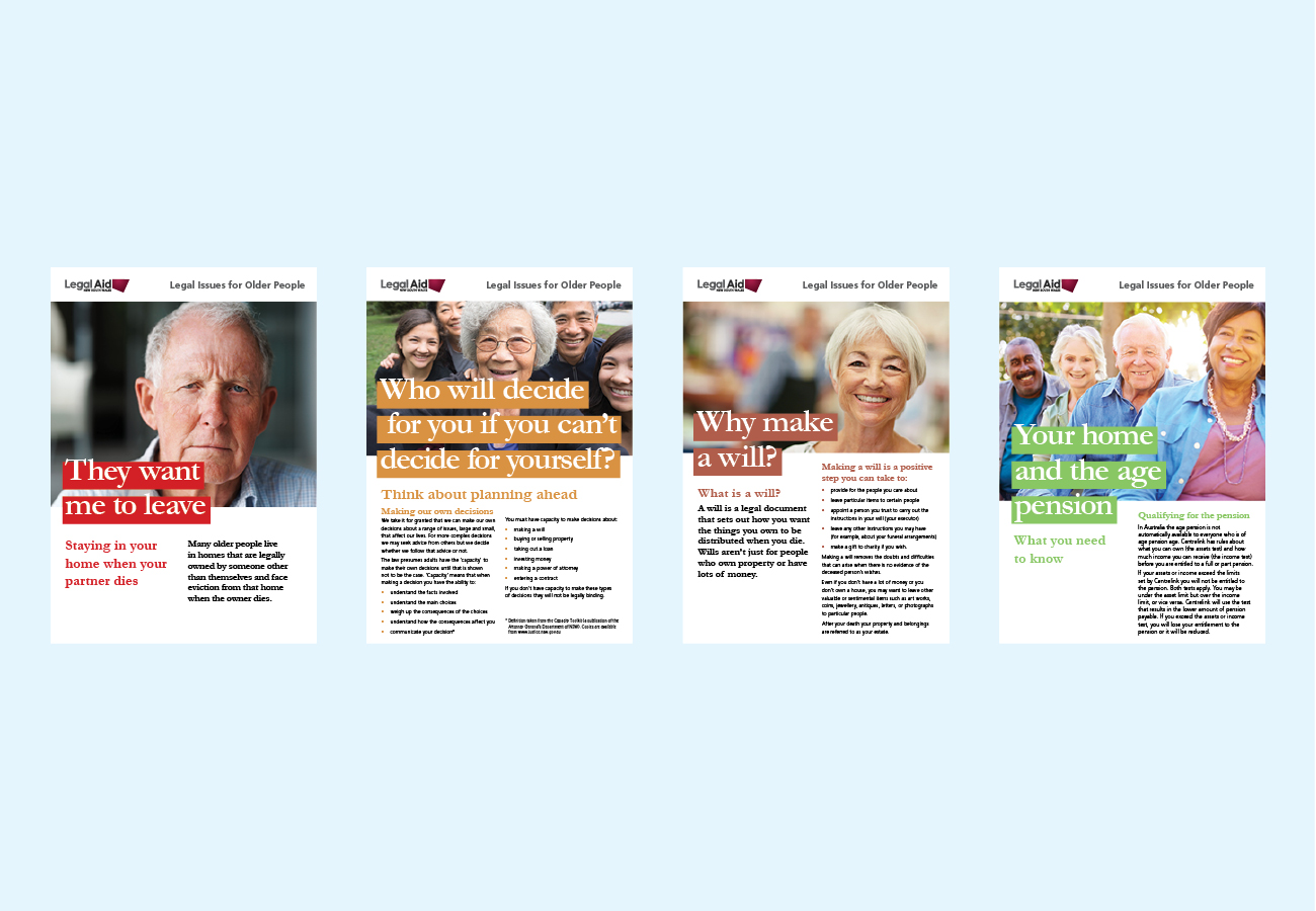 Legal Issues for Older People Brochures