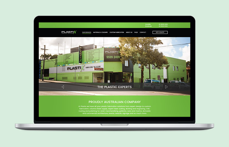 Plastix Website Redesign in WordPress