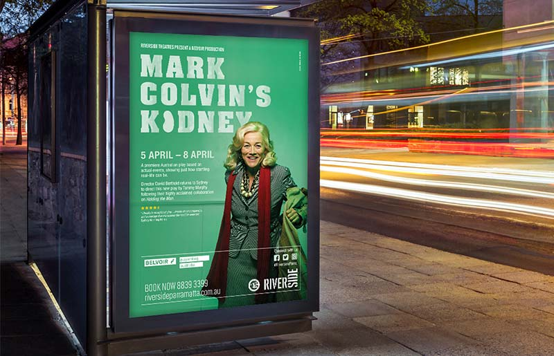 Riverside Theatres Outdoor Campaign, Creative and Graphic Design