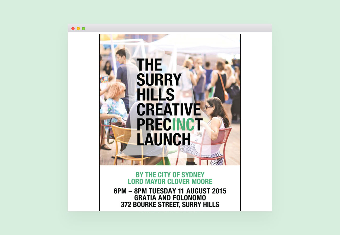 Surry Hills Creative Precinct Visual Identity