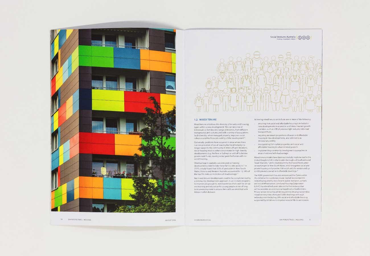 Social Ventures Australia Graphic Design