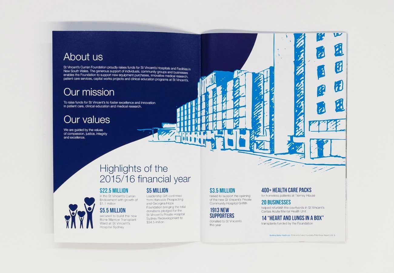 Building Better Healthcare St Vincent's Curran Foundation Philanthropy Annual Report 2016