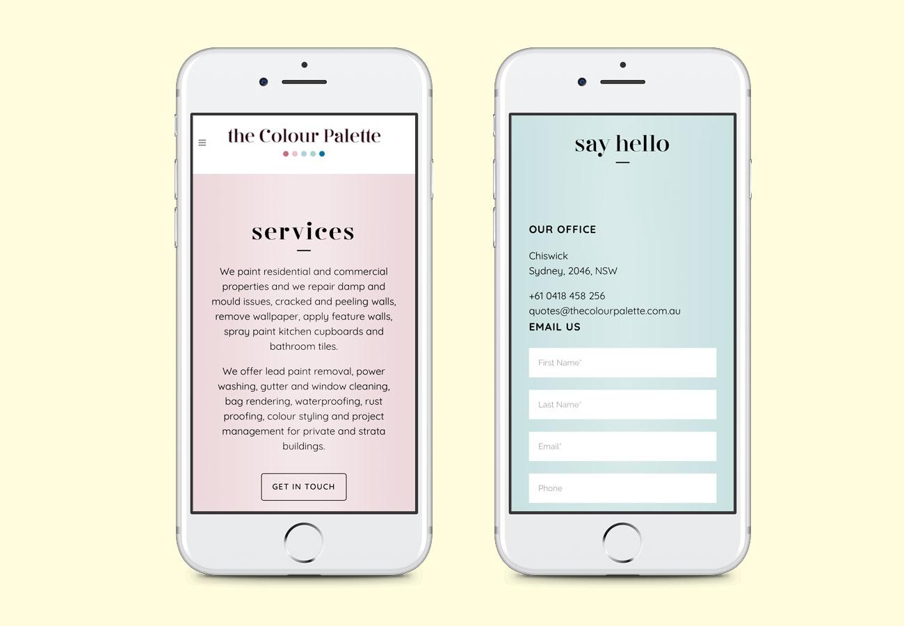The Colour Palette Web Design