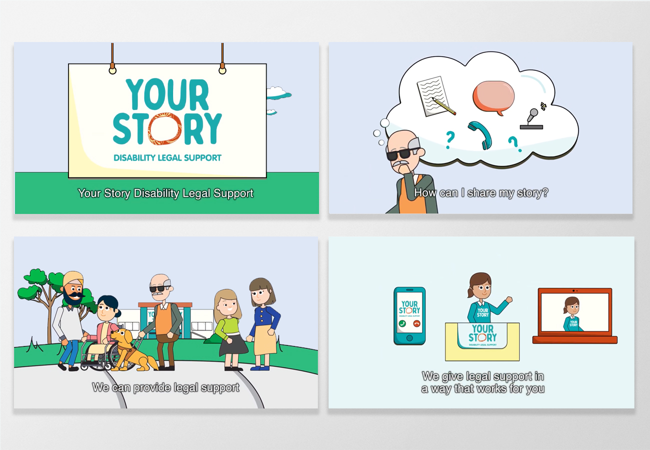 Your Story Disability Legal Support 60sec Animation